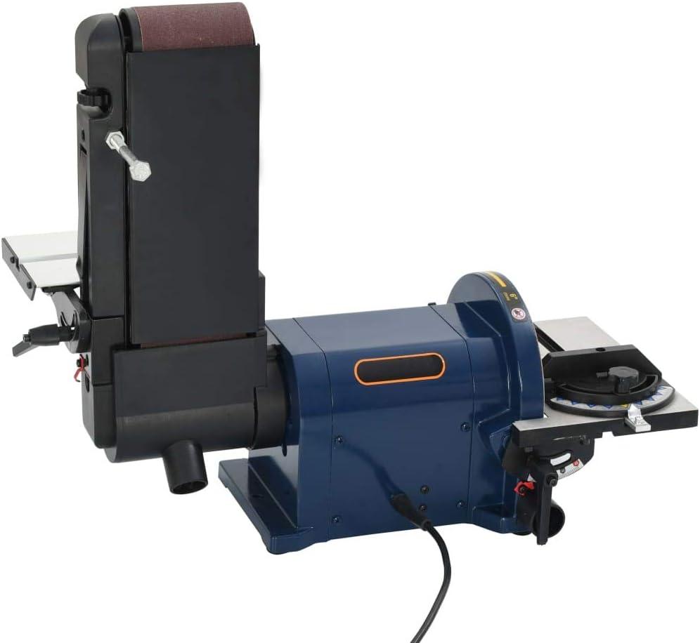 UnfadeMemory Lijadora El/éctrica 2 en 1,Lijadora de Disco y Lijadora de Banda,M/áquina de Lijado,Potencia 550W,Di/ámetro de Disco de Lijado 200mm