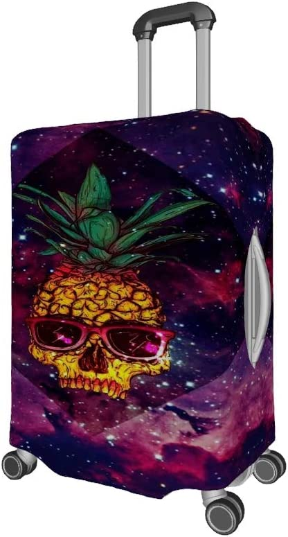 25-28 inch Stretch Suitcase Cover Pineapple Skull Starry Sky Luggage Cover Suitcases Protector Cover Luggage Case white l