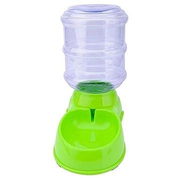 Wgwioo Automático 901100 - Fuente Perros Gatos Mascotas dispensador de Agua, Saludable y Higiénico, 3.5L, Verde, 32.5 * 30.5 * 17.5cm: Amazon.es: Hogar