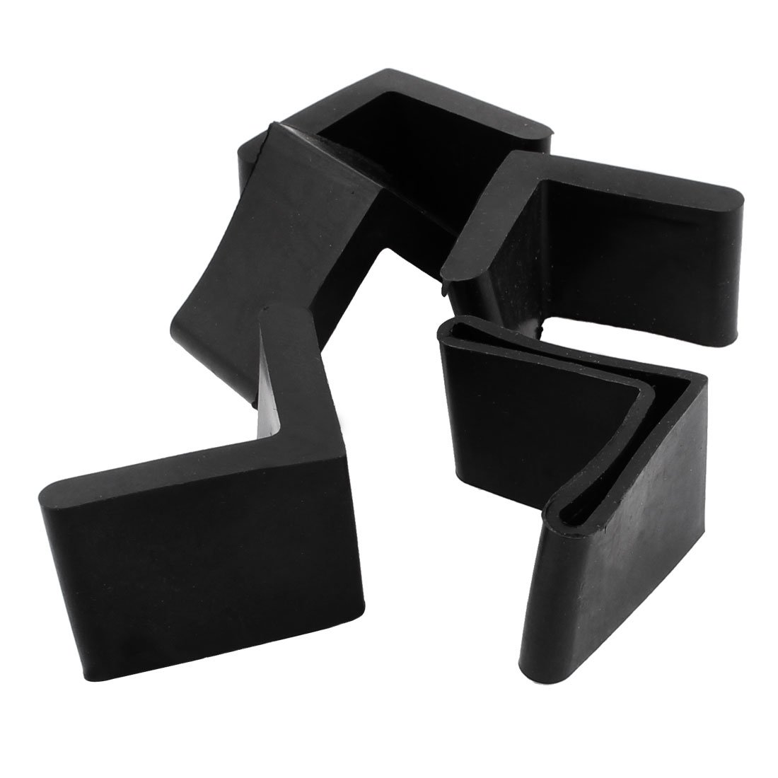 uxcell Rubber L Shaped Angle Iron Leg Foot Cover Cap 40mm x 40mm 5pcs Black a16022200ux0137