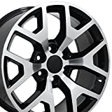 rims for a gmc sierra - 22x9 Wheel Fits GM Trucks & SUVs - GMC Sierra 1500 Style Black Rim w/Mach'd Face, Hollander 5656