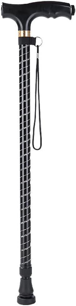 NYDZ Silla de Ruedas Andador Bastón de Aluminio Ligero LED con férula de Goma Bastón Ajustable para Personas Mayores, discapacitados y discapacitados