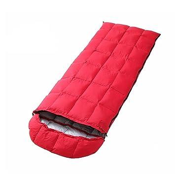 Sacos De Dormir Al Aire Libre Luces De Invierno Cálido Envolvente Plumas Nieve Alpino Camping Bolsas De Dormir, Rojo: Amazon.es: Deportes y aire libre