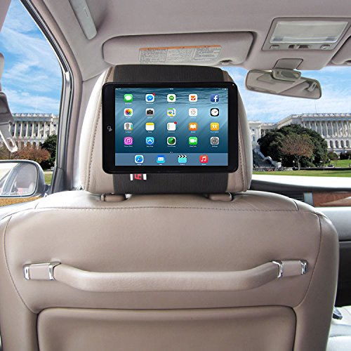 TFY Car Headrest Mount Holder for iPad Mini & iPad Mini 2, Fast-Attach Fast-Release Edition, Black by TFY (Image #3)