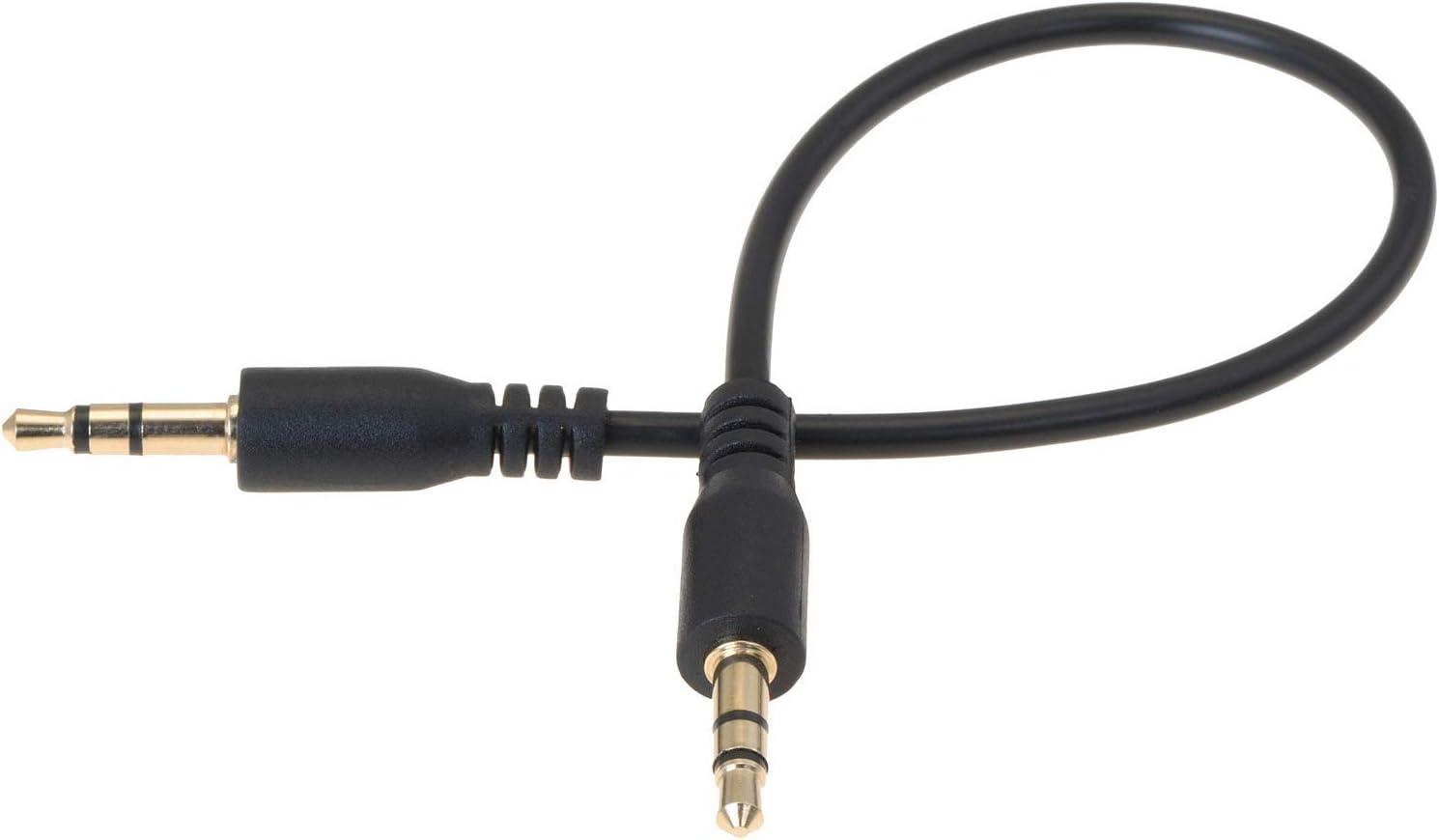Valonic Aux Cable Short 20 Cm 3 5 Mm Audio Cable Elektronik