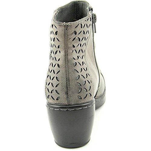 Jambu Kvinna Cabernet Träkol Faux-läder Rund Tå Känga - 6,5 B (m) Oss