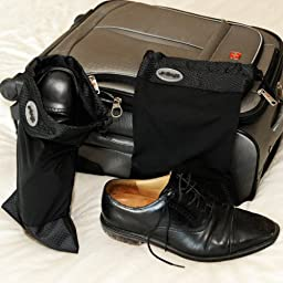 Shoe Bag - Stretchable Shoe Sleeves by goBags - Set of 2