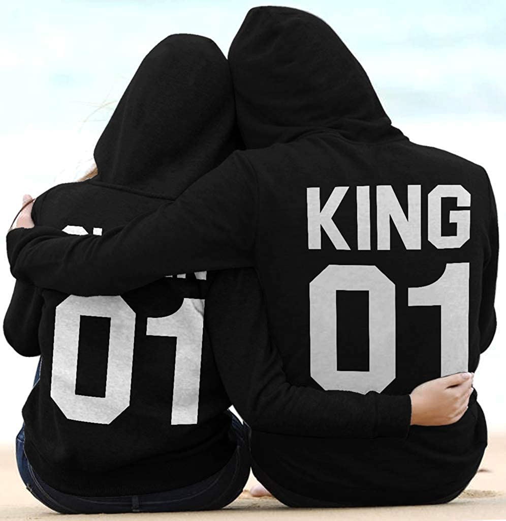 SMLBOO King and Queen 01 Funny Awesome Matching Couples Shirt Unisex Style Hoodie
