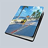iPad 9.7' 2018 / iPad Air 1/2 Case Alexandria Egypt October The numerous Black Yellow Taxi Cars are and Comfortable 360 Degree Swivel Mount Cover for Automatic Sleep Wake up ipad case