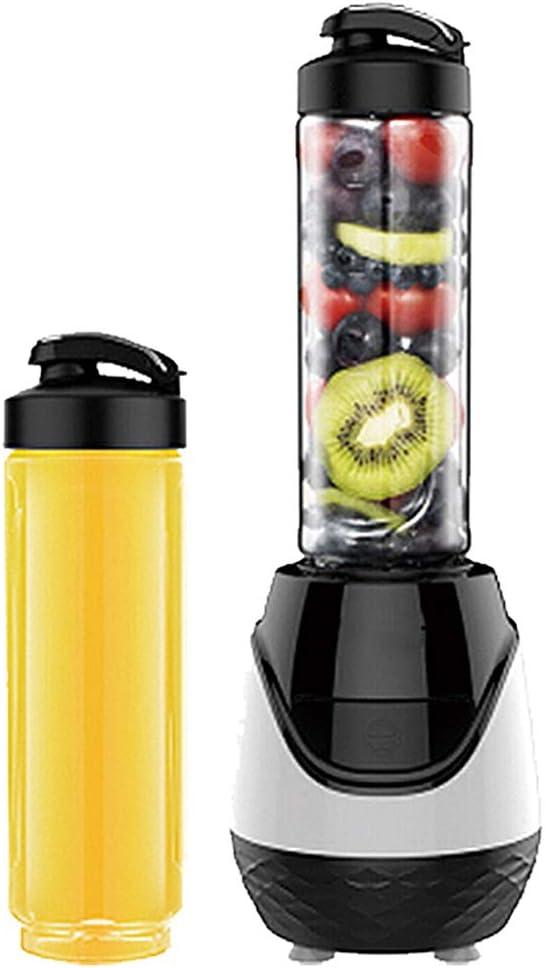JTJxop Licuadora Portátil Batidora Batidora Eléctrica Personal Mini Blender, con 2 Frascos De Mezcla De 600ml para Batidos, Batidos, Bebidas De Frutas y Verduras, 250W