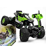 Gizmovine RC Car 4WD 1/16 Rock Crawler Climber Off Road Vehicle 2.4Ghz Toy Remote Control Car Electronic Monster Truck R/C for Kids & Adults (Green)