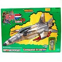 GI JOE vs. COBRA SPY TROOPS Conquest X-30 Jet with Slip Stream Action Figure by G. I. Joe