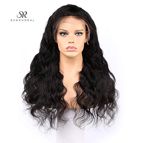 Body Wave Lace Front Wigs Human Hair 180% Density Glueless Brazilian Remy Wavy Human Hair Wigs Pre Plucked Natural Hairline Wigs for Women (12 Inch)- Sheenreal - Hair Wigs Human Headband