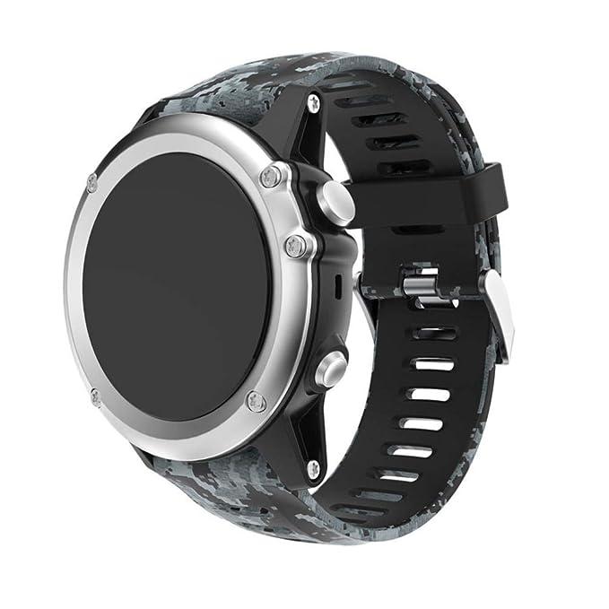 Bestow Garmin Fenix 3 Reloj GPS Silicagel Banda Suave Banda de Reloj Reloj Elegante Reloj de