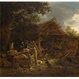 Canvas Prints Of Oil Painting ' Isack Van Ostade A Farmyard ' , 20 x 21 inch / 51 x 53 cm , High Quality Polyster Canvas Is For Gifts And Gym, Kids Room And Laundry Room Decoration, pop