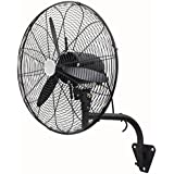 Fan Black Metal Wall Mount Home Office Supplies Warehouse Adjustable 20 Indestrial 3 Speed Air Flow Circulate Oscillation