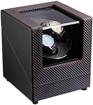 XUNMAIFWT Lussuoso Scatola Carica Orologi Automatici per 2 Orologi da Polso, 5 Programmi di Rotazione, Vetrina Trasparente, Motore Silenziososo Orologi