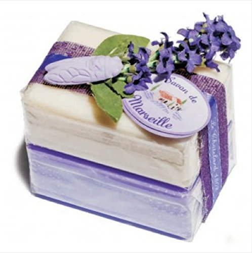 Savon de Marseille Bath Soap Bars Gift Set - Lavender & Jasmine