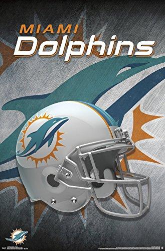 Trends International Miami Dolphins Helmet Wall Poster