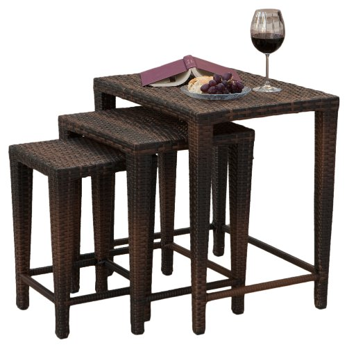 Best Selling Del Mar Wicker Tables, Multibrown