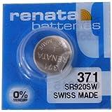 Renata SR920SW Lot de 10 piles bouton 371 au lithium