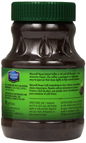 Maxwell House Instant Decaffeinated Coffee, 8 Ounce