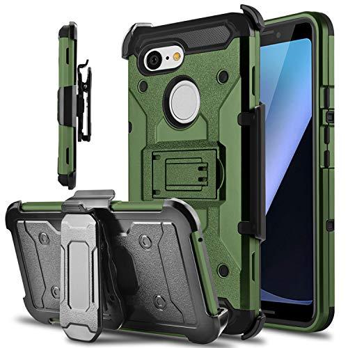 Google Pixel 3 Case, Tevero Kickstand [Heavy Duty...