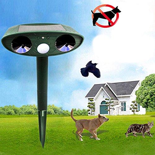 LEEPRA GreatHouse Ultrasonic Solar Power Cat Dog Animal Repeller Outdoor Garden Animal Scarer by LEEPRA