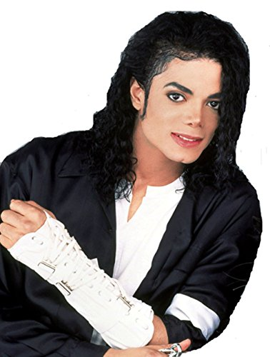 Michael Jackson's COS Wig, MJ Black Fashion Handsome African Mid-length Curly - Cos Michael