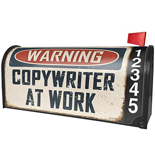 Shop online NEONBLOND Warning Copywriter Work Vintage Fun Job Sign Magnetic Mailbox Cover Custom Numbers