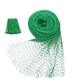 Zivisk Anti-Bird Netting 33 Ft x 13 Ft Garden Bird Net 2 Pack, Green Garden Farm Trees Plants Fruits Fencing Mesh, Nylon Woven Plants Netting Durable Fish Ponds Cover