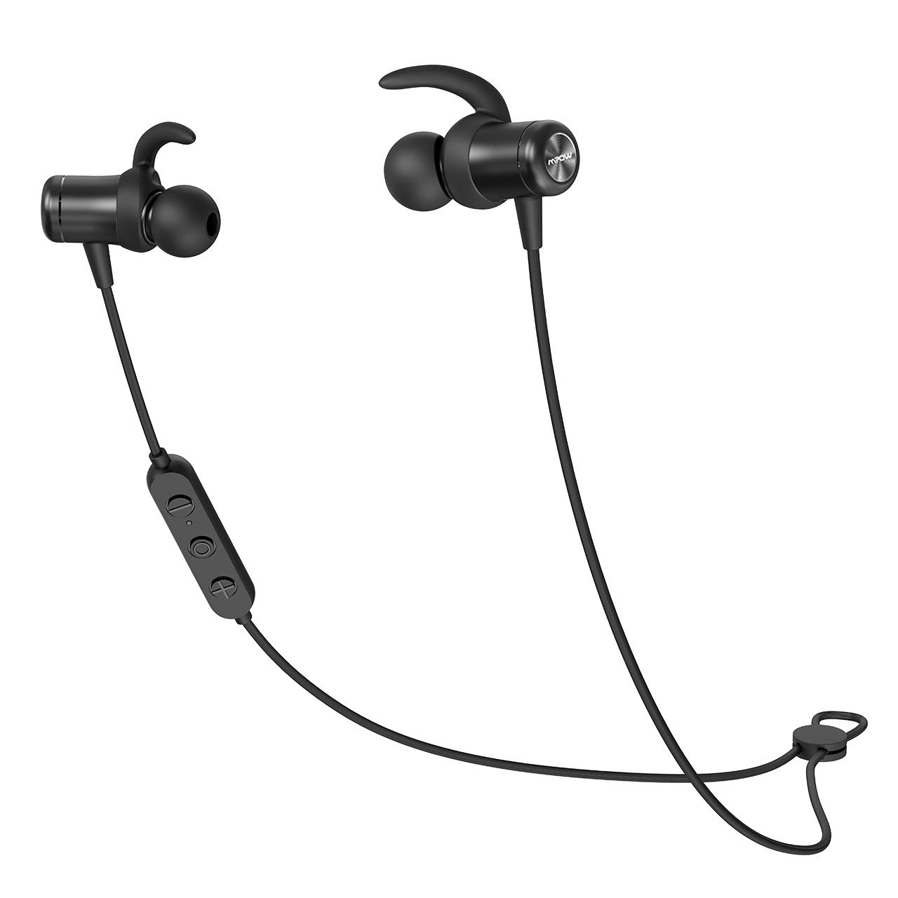Bluetooth Headphones Sports, Mpow S11 Wireless aptX 5.0 Earphones IPX7 Waterproof in-Ear, Running Magnetic Earbuds Sport Fitness Built-in Mic with HD Stereo Sounds CVC6.0 for iPhone Android, Black