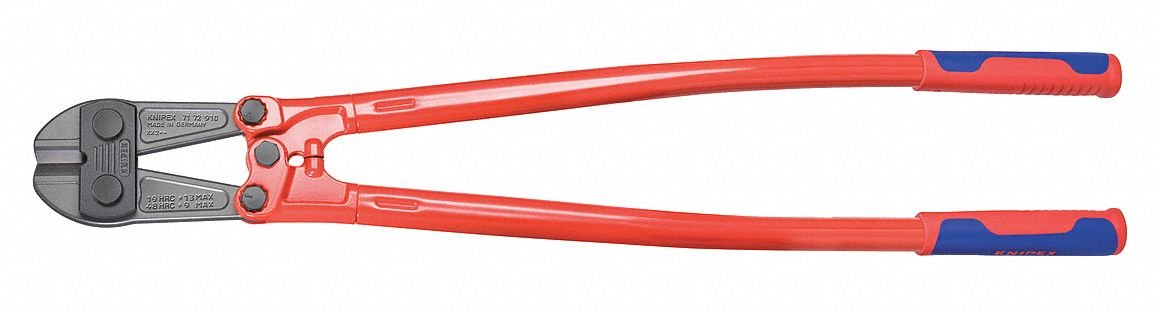 Steel tube, powder coated Bolt Cutter,35-3/4'' Overall Length,3/8'' Hard Materials up to Brinnell 455/