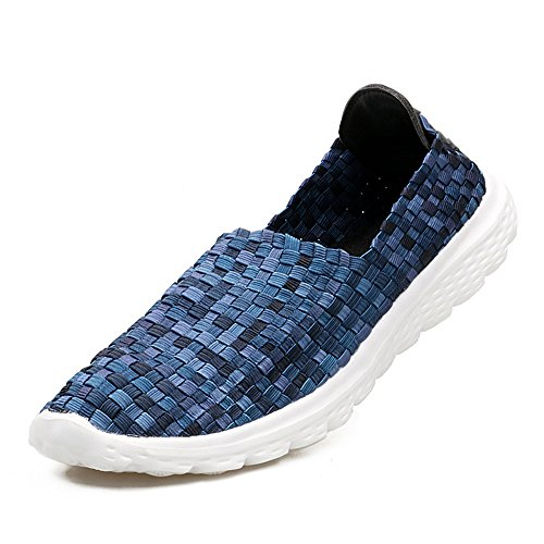 Sneakers Woven Shoes Running Women's Blue4 Sneakers YMY Casual Lightweight Breathable q7ZB46nXw5