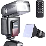 Neewer Photo TT520 Speedlite Flash Kit for Canon Nikon Olympus Fujifilm and any Digital Camera with a Standard Hot Shoe Mount - Includes: Neewer Flash + Softbox Flash Diffuser + Universal Wireless Camera IR Remote Shutter Release Control