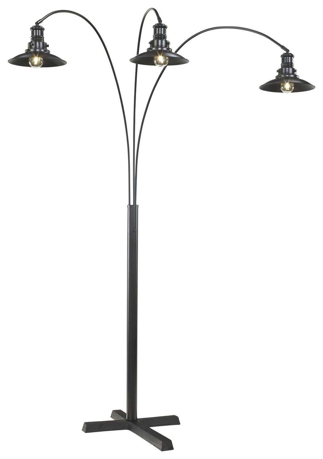 Signature Design by Ashley L725059 Metal Arc lamp, Black
