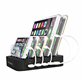 GEENKER 5-Port USB Charging Station Dock, Organizer for iPhone 7/7 Plus/6/6s/Plus, SE/5S/5C/5, iPad Pro/Air/Mini/4/3/2, Samsung Galaxy S7 Edge/S6/S5/S4/S3/Note/Note2/Tab, iPod, Nexus, HTC and more
