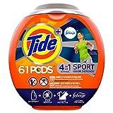 Tide PODS Plus Febreze, Sport Odor Defense Liquid Laundry Detergent Pacs, Active Fresh Scent, 61 count