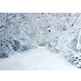 Doradus 2.1 x 1.5m Xmas Heavy Snow Trees Road Vinyl Photography Studio Backdrop Background