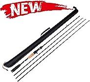 Entsport 2-Piece 7-Feet Casting Rod 3 Top Pieces Available (Medium Heavy, Medium, Medium Light) Solid Graphite