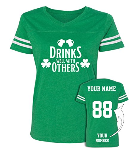Drinks Custom Jerseys St Patrick's Day T Shirts - Saint Pattys Jersey Tee & Outfits]()