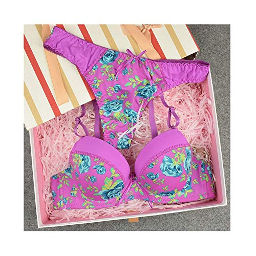 Electric Lace Pickup (Mystery Gift 2018 A B C Cup Sexy Printing G String Bra Brief Sets Lace Girl Underwear Black Blue Women Panty Set,c,Black,85C,)