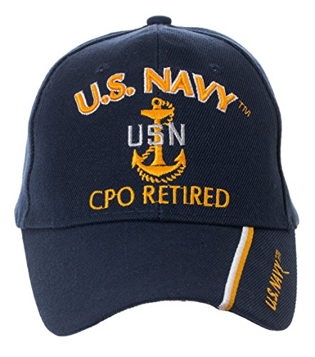ly Licensed US Navy Retired Baseball Cap - Multiple Ranks! (Chief Petty Officer) (Navy Retired Ball Cap)