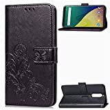 anzeal Wiko View XL Leather Case, Wallet Case for Wiko View XL,PU Wallet Phone Case [Card Holder] Magnetic Closure Protective Cover for Wiko View XL Black