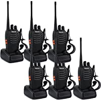 Retevis H-777 Two Way Radio 3W Signal Band UHF 400-470MHz Rechargeable Walkie Talkies(6 Pack)