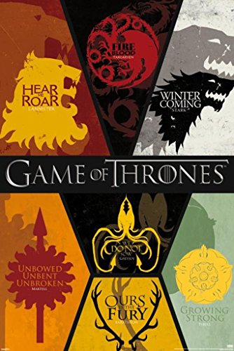 Game of Thrones House Sigils Collage Poster 24x36 inch (Game Of Thrones Season 5 Poster)