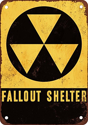 Dorapitman Retro Vintage Fallout Shelter Metal Sign 12