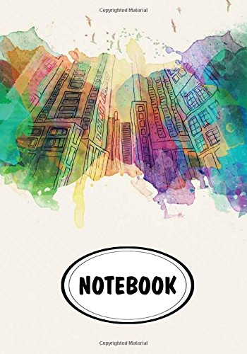 "Notebook: Dot-Grid,Graph Grid,Lined,Blank Paper : Building watercolor : Journal Diary, 110 pages, 7"" x 10"" (Notebook Journal) PDF"