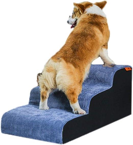 XZPENG Cubierta de Felpa escaleras de Mascotas 3 Pasos for el Perro, pequeño Perro Animal más Viejo Escalera Subida de Altos Camas/sofás (Size : DBKLLDKL): Amazon.es: Productos para mascotas