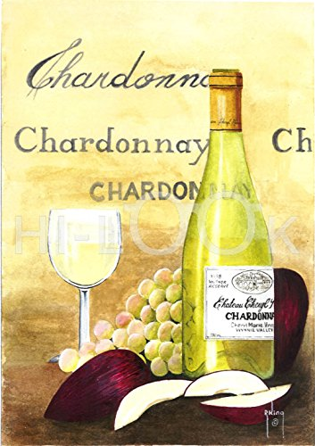 Apple Chardonnay Wine (Hi-Look Microfiber Cleaning Cloth - Apples and Chardonnay)